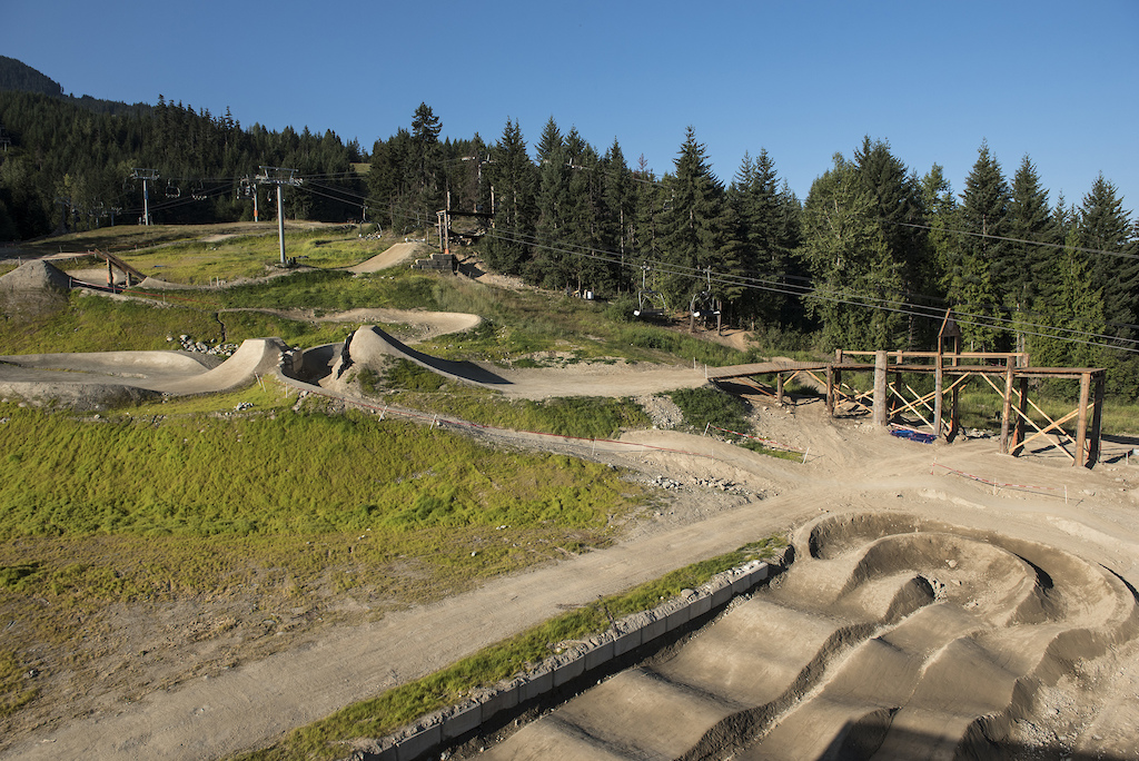 Preview of the Redbull Joyride course in Whistler Canada on August 7 2019