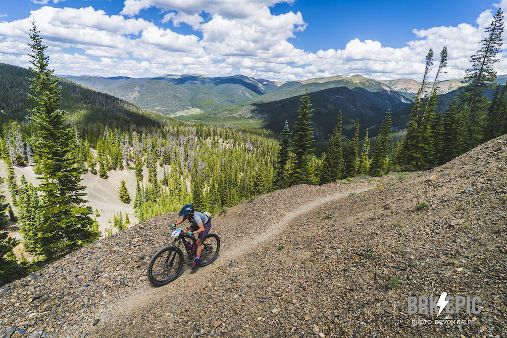 Stage 3 of the Breck Epic featured nearly 40 miles of high alpine riding. Photo credit: Devon Balet