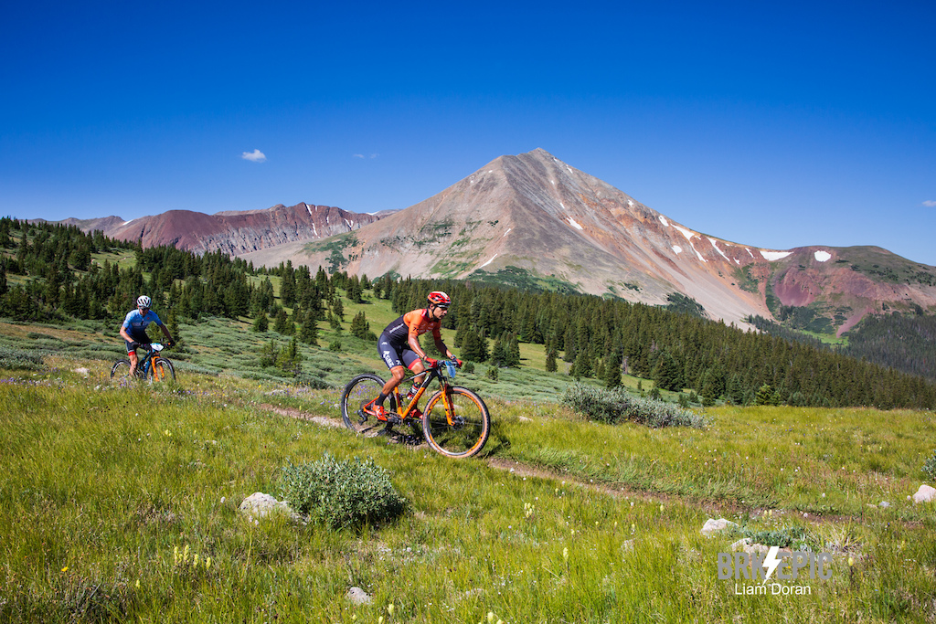 Stage 3 of the Breck Epic was brutal as the racers climbed 7,000+ feet and crossed the Continental Divide twice. Photo credit: Liam Doran