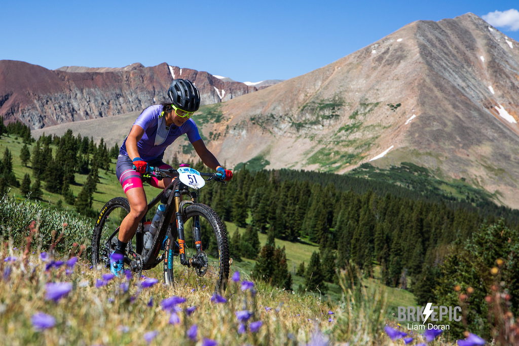 Evelyn Dong had a strong day of climbing at the Breck Epic to stick with the leaders and finish 3rd for the women in Stage 3.