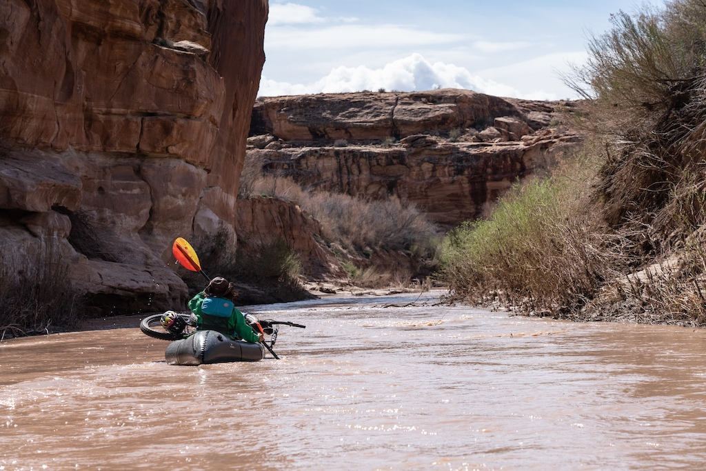 Lizzy Scully catching one of the ephemeral spring rivers of Southern Utah 2019.