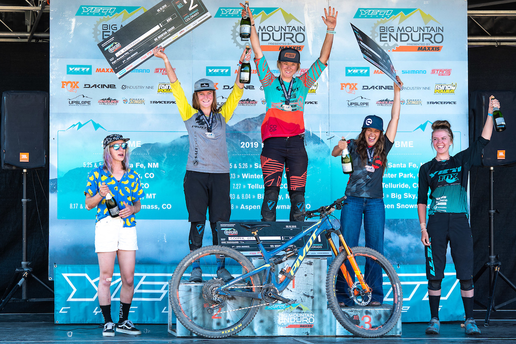 Pro Women s podium left to right Corrine Prevot Lia Westermann Cooper Ott Antonia Wurth Lauren Bingham