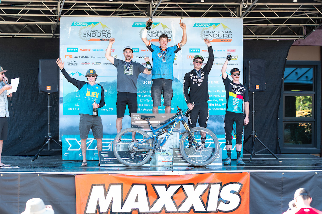 Pro Men s podium left to right William Farmer Dave Camp Carson Lange Shane Leslie Jubal Davis