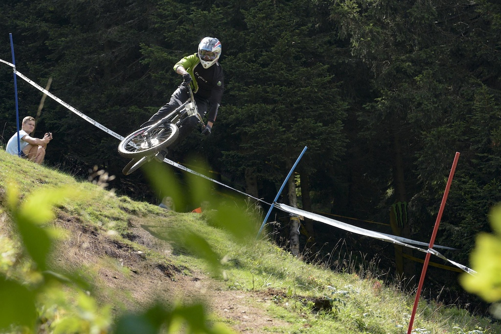 Downhill Sorica 2019 2nd placed Luka Berginc of KK rn trn Blackthorn