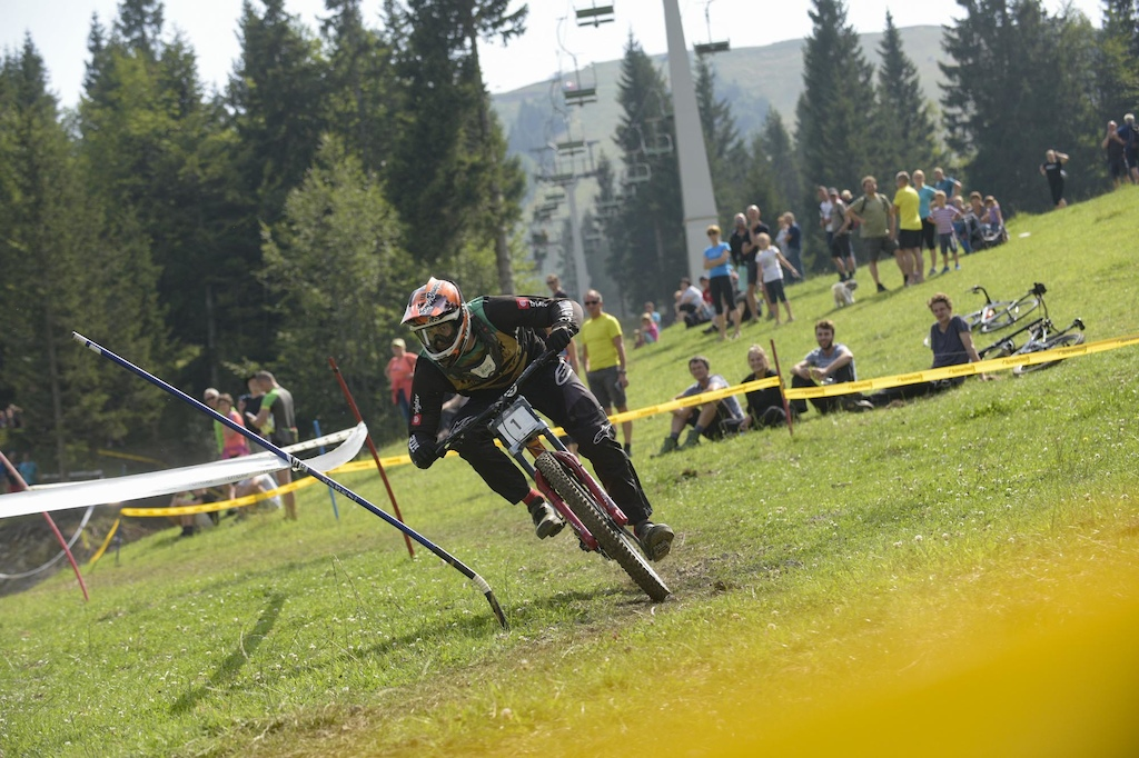 Downhill Sorica 2019 winner Rudi Pintar of Sinter Brakes Team