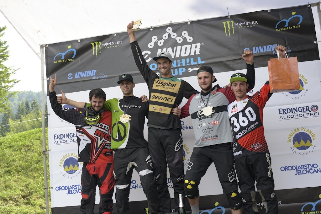 Downhill Sorica 2019 men s elite podium