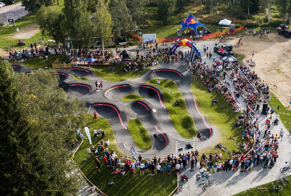 Red Bull Pumptrack World Championships qualifiers in Järvsö, Sweden.