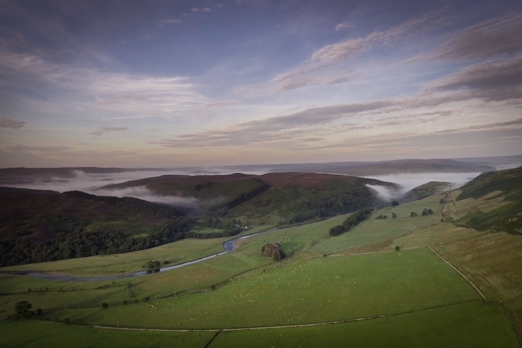 Early morning over Upper Coquetdale.