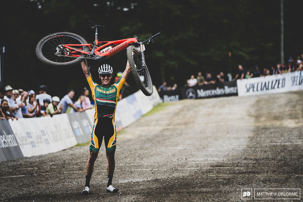 Alan Hatherly takes the win in the first ever eMTB World Championships.
