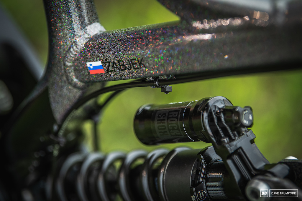 Jure Zabjek s custom Devinci Wilson - reflective paint for the Slovenian