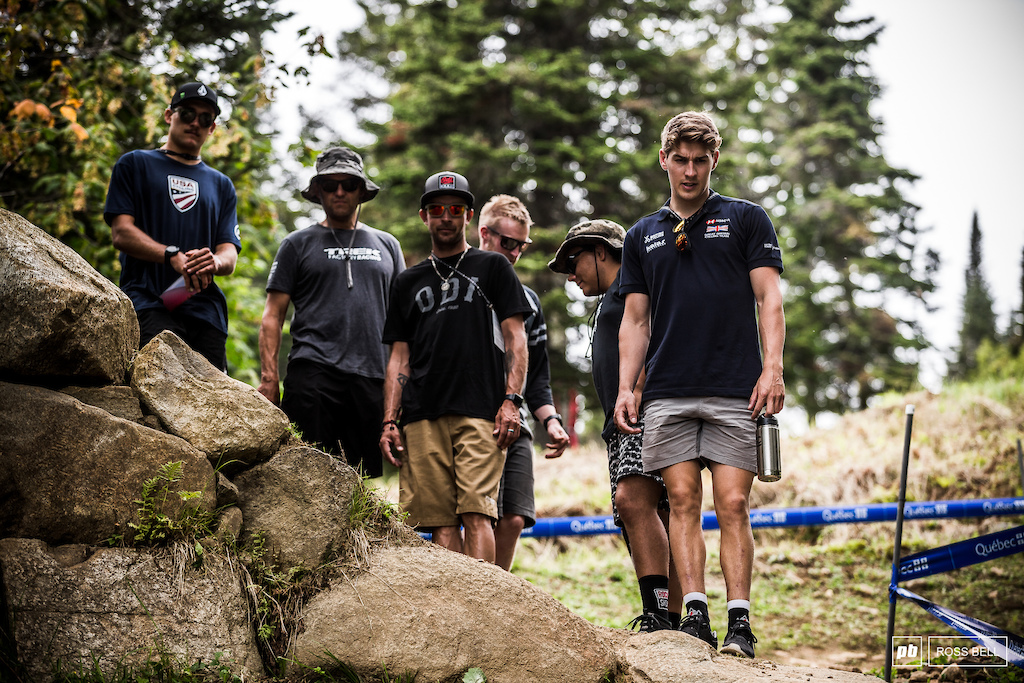 Trek Factory DH is made up of Charlie Harrison and Reece Wilson this weekend.