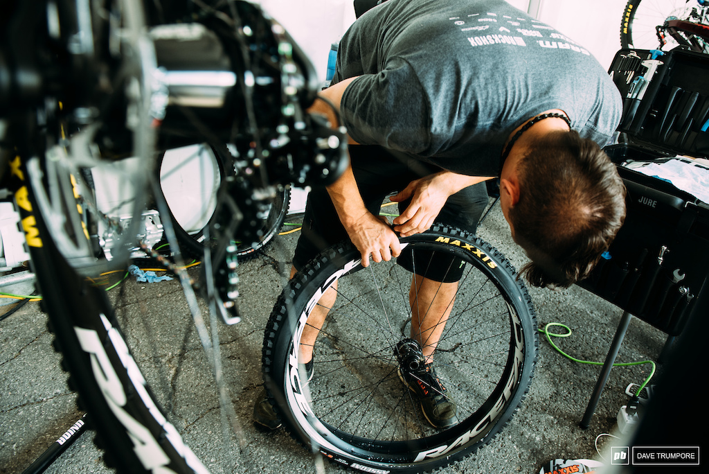 Just about everyone is stuffing their tire liner of choice in wheels this weekend to battle the rocks and high speeds