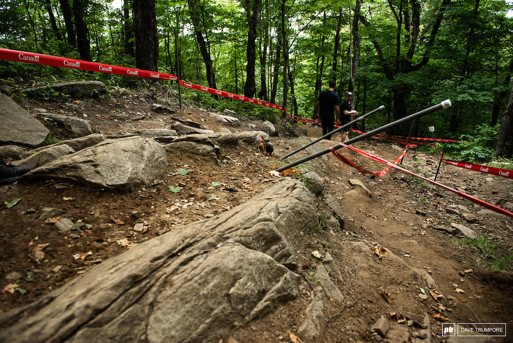 Some riders will remember when these rocks were barely visible in this section (2007)