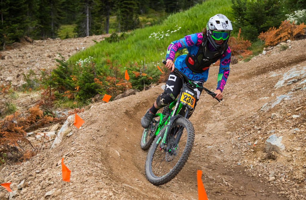 In his first season racing Ethan Whittaker is finding his groove on the mountain. His time was a 04 23.42 nearly 6 seconds faster than the rider behind him. Cat 2 Men 15-18.