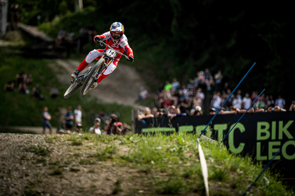 The 4 time Leogang destroyer 30 yards from the line. Photo Credit Nathan Hughes