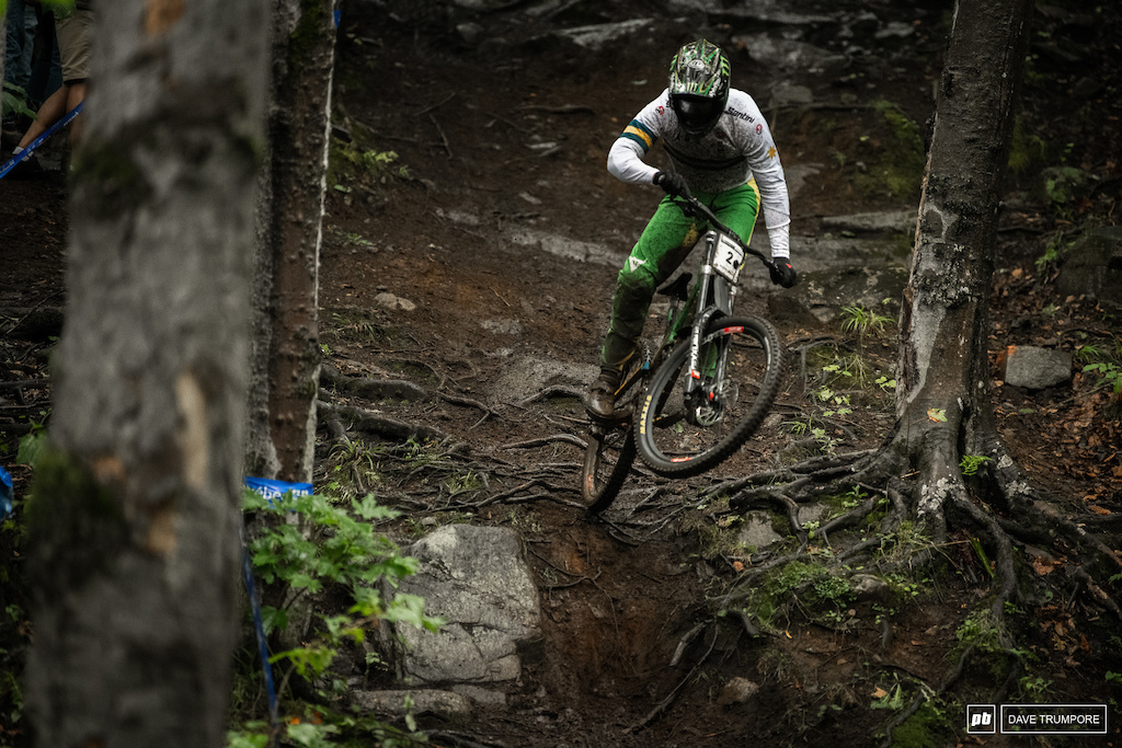 Troy full gas over the wet roots during qualifying
