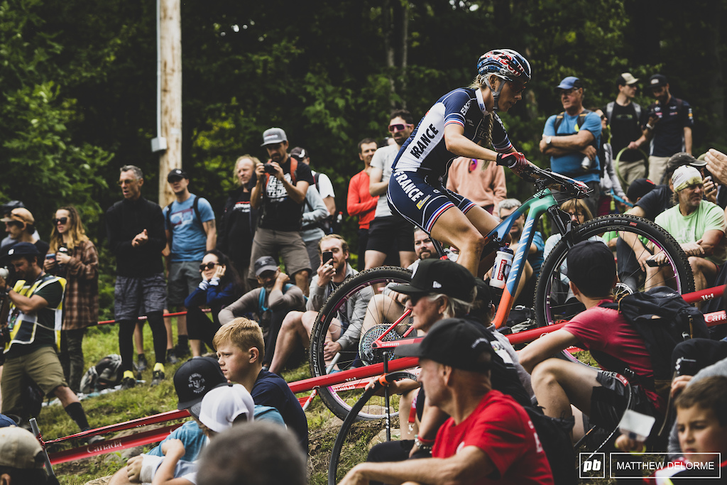 Pauline Ferrand Prevot  worked her way up from the third row to take the win.
