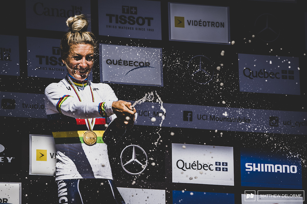 She has been making solid gains throughout the season, that culminated in another World Champion title.