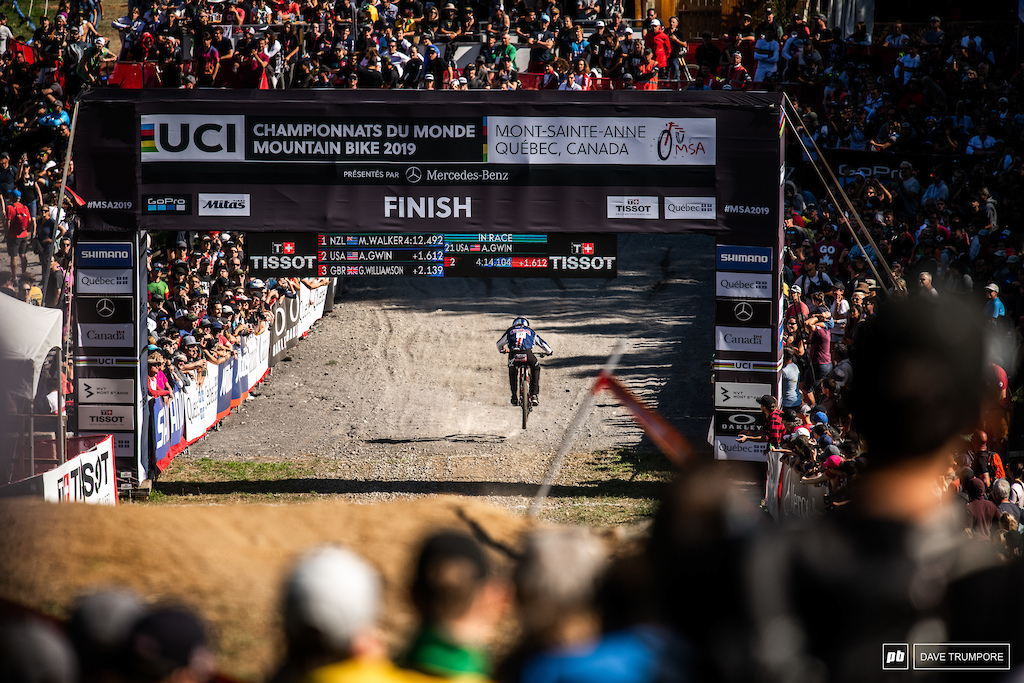 Not Aaron Gwin's day at World Champs.  He will be looking for redemption in West Virginia next week