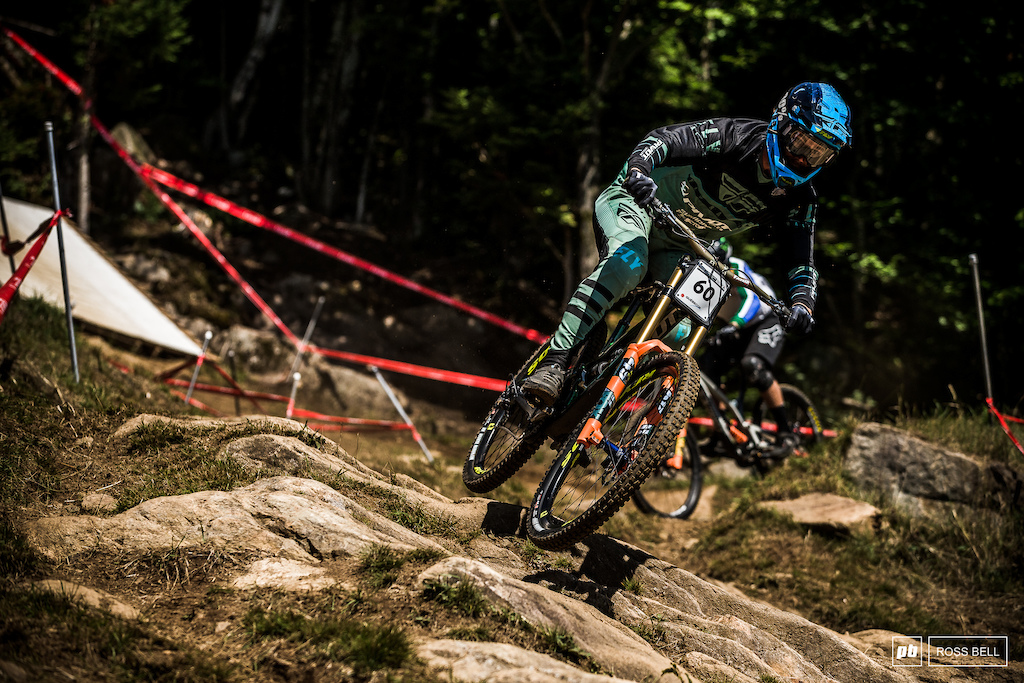 That's the best showing for Matt Walker on the downhill bike for some time. 11th place for the Kiwi.