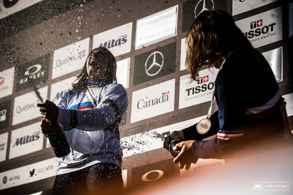 Back from injury and right to the top of the world Myriam Nicole beat all odds today on one the the most physically demanding courses of the circuit.
