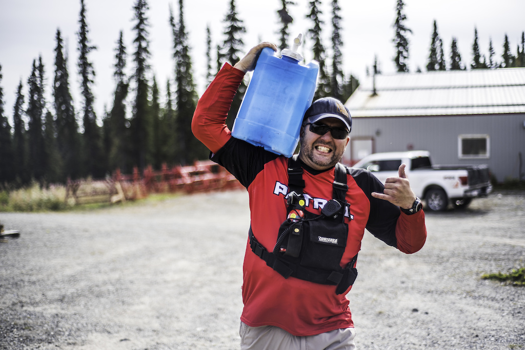 Our Ski Patrol Jason is always making sure everything was running smoothly