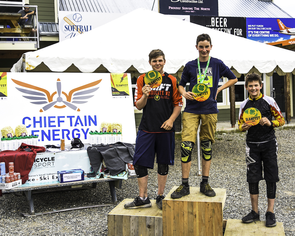Youth Downhill Podium