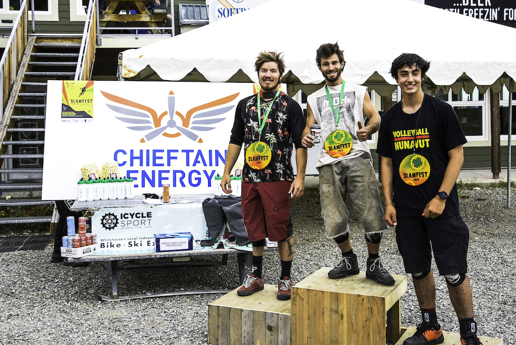 Mens Open Downhill Podium