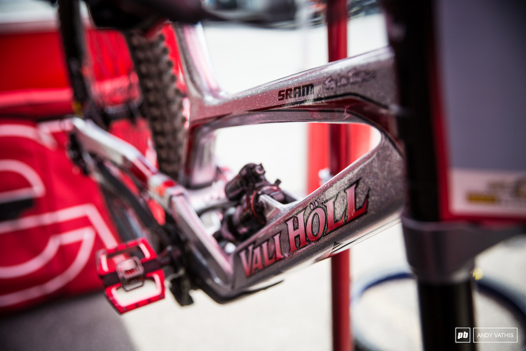 World Champ Vali Holl s bike ready for another round.