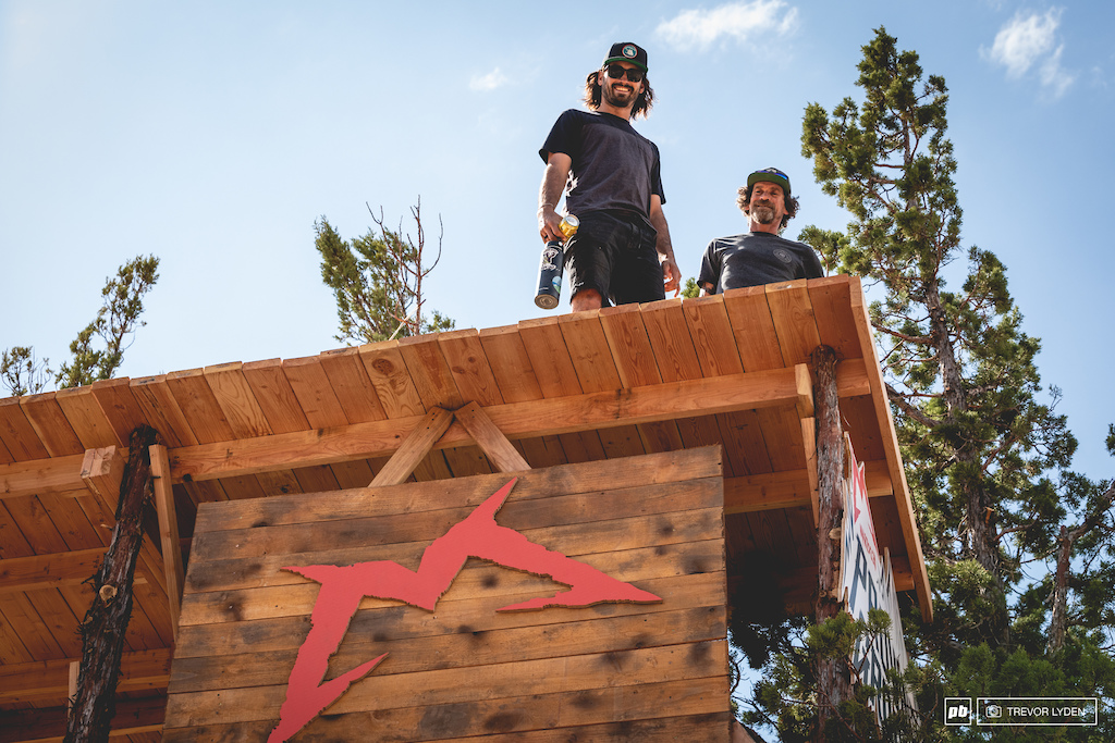 KJ and Spangler on the final drop/judges tower.