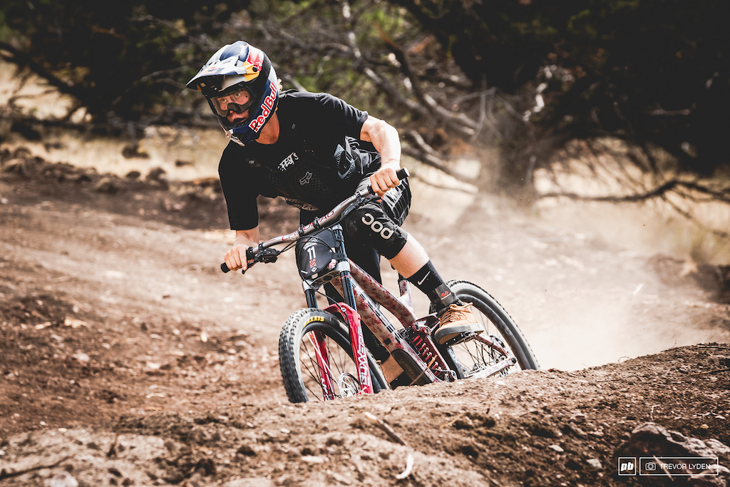 Fresh off a Joyride win, Emil is looking to but down a solid run on his big bike.