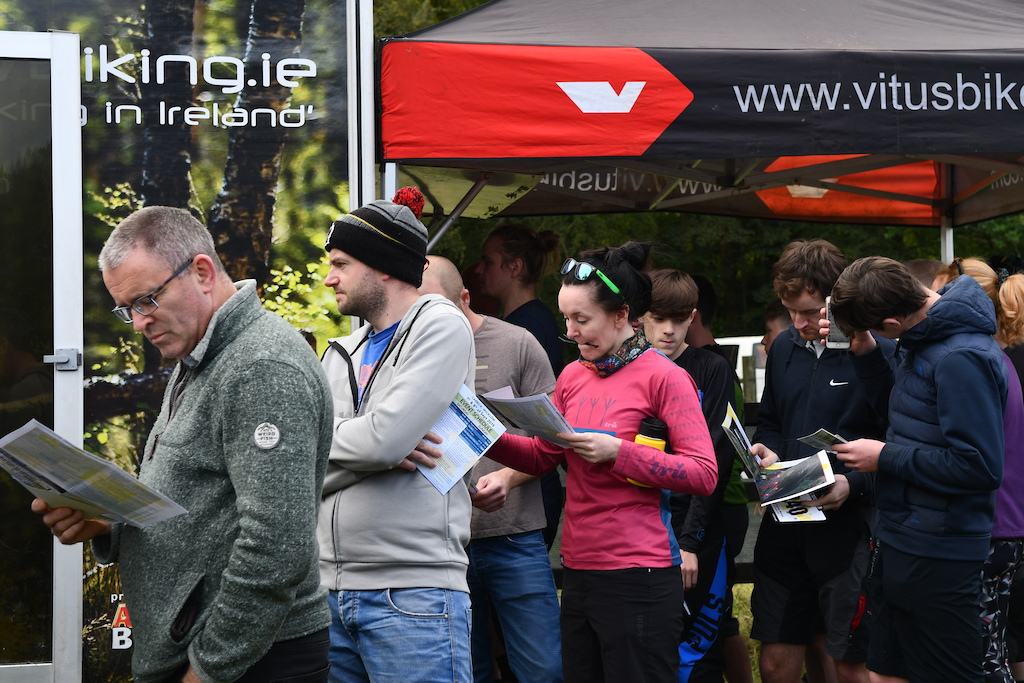 Once registered time to pick up the race plate and on the meaintime check the race route