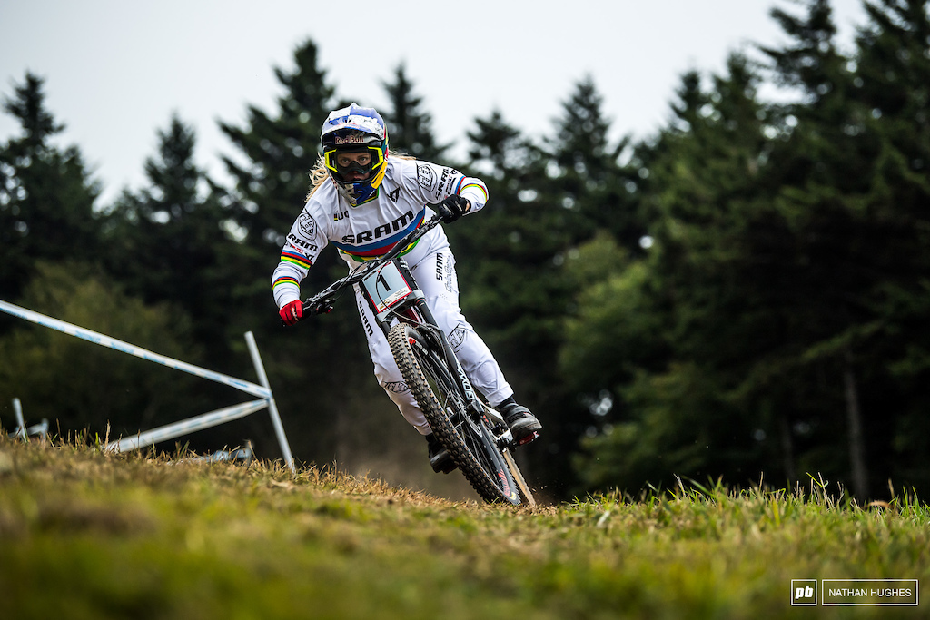 The future is bright bright white with the rainbow stripes in the form of junior women s superstar in the making Vali H ll. Another win with more than 10 seconds to spare here in the US and today claiming the overall trophy she already had in the bag.