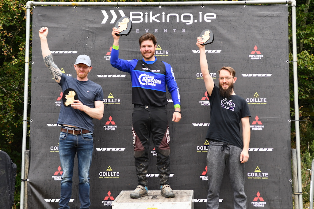 MasterB 35-39 category with Philip Mullan from CRC Belfast as the overal leader