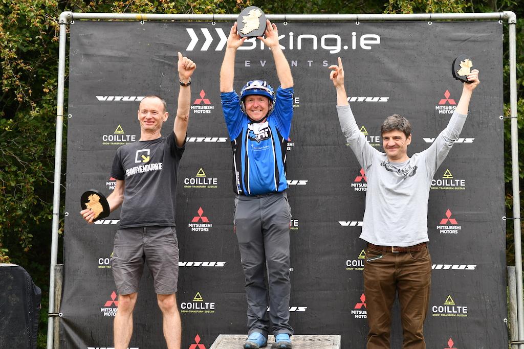 Super Vet Men 50 podium with Mark Keating