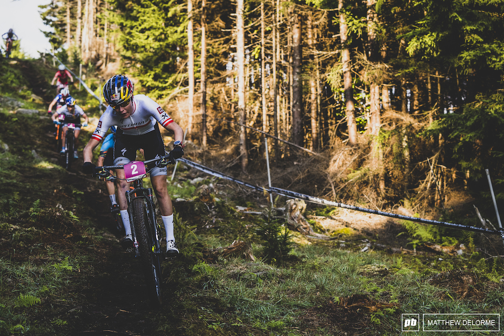 Laura Stigger took second today in the u23 women.