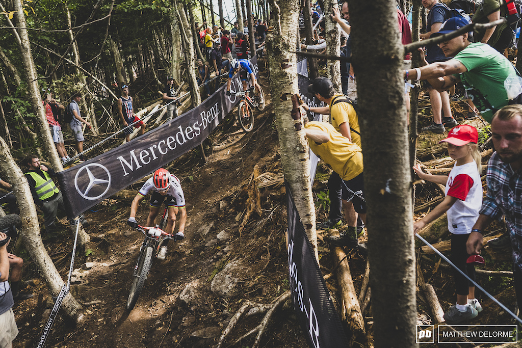 Nino Schurter had a hell of a race. Flatted took back the lead and then finished second to team mate Lars Forster. Nino took the overall.