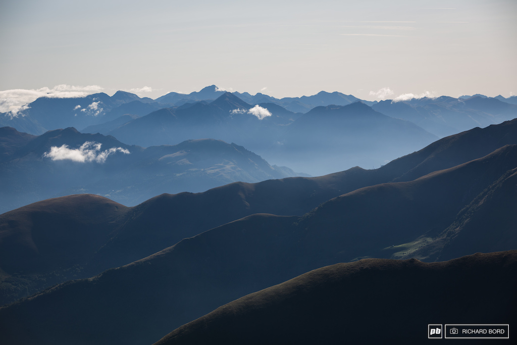 The Pyrenees mountains.