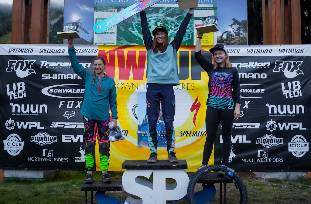 Junior Ex Women Overall Podiums Left to Right Taylor Ostgaard Ella Erickson Sydney Haberman.