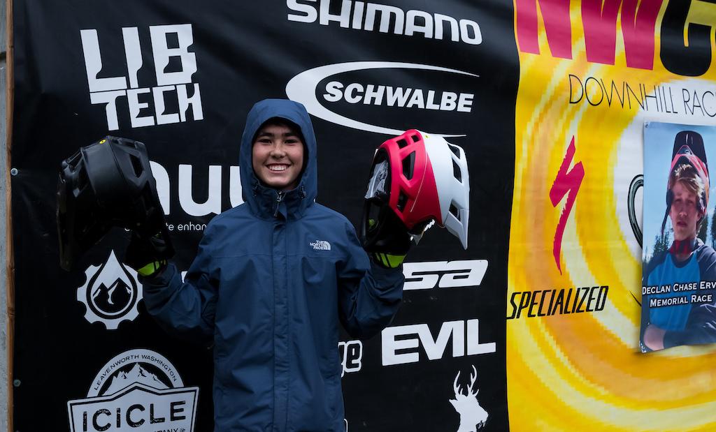 The final lucky winner of the new Fox Head Pro Frame Helmet.