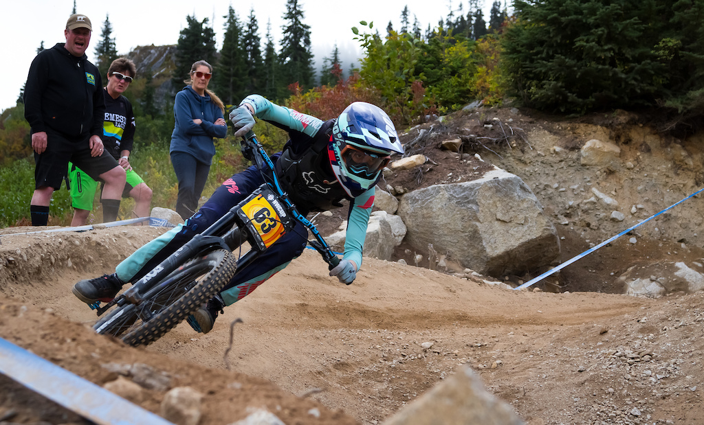 Ella Erickson finished off a nearly perfect season with first place finishes at five out of 8 races and a podium at each one. Her time was 02 42.91 which would have put her in second place in Pro Women and was only 0.7 seconds off of her time at the last Stevens Pass race.