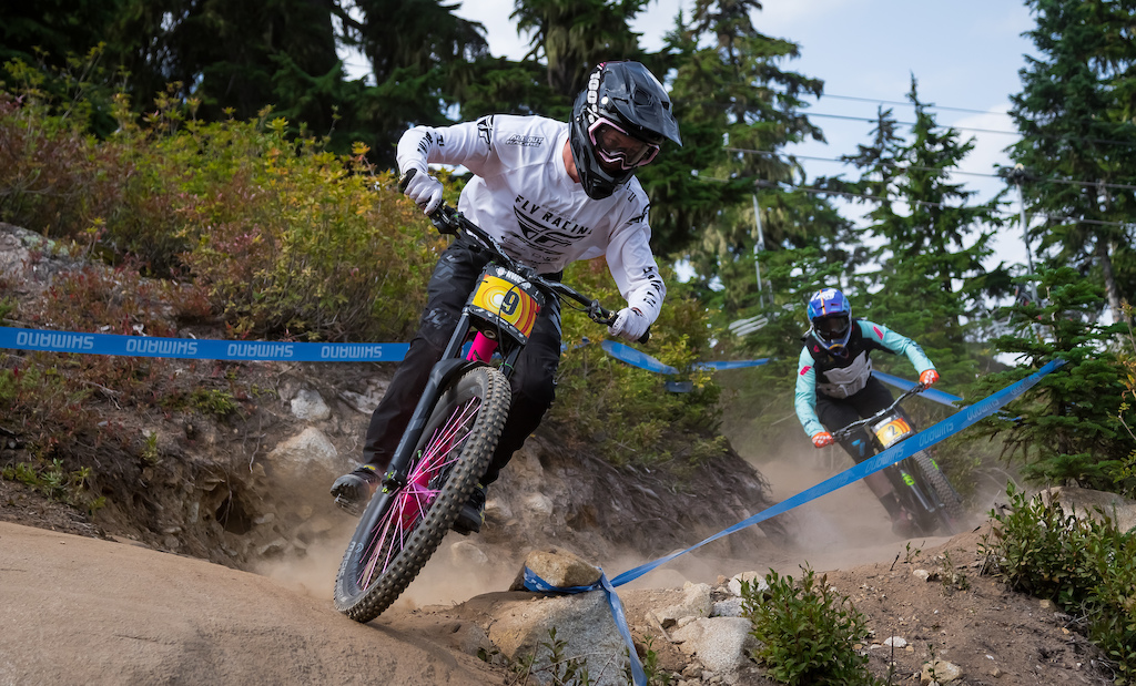 Pro Men Dylan Brown and Nik Clarke took practice laps all weekend. Brown seeded fourth and finished his race with a 02 29.01 while Clarke crashed in his seeding run and raced a 02 27.89. There were two riders with a 2 29 and three with a 2 27 so it was safe to say that the Pro Men class was tight Pro Men