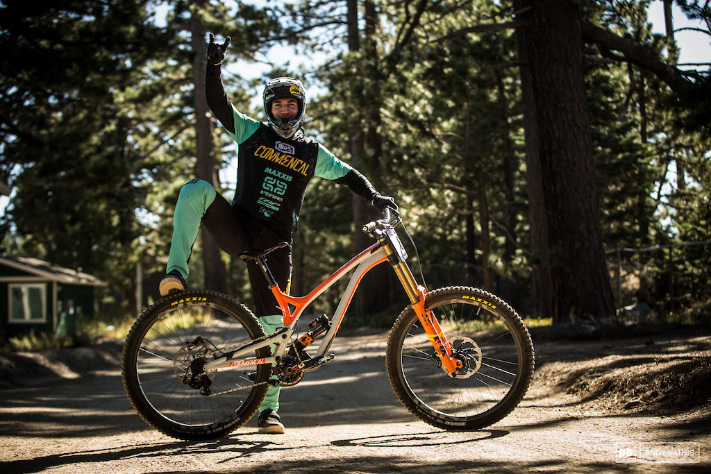 Bruce Klein and his Commencal Supreme DH.