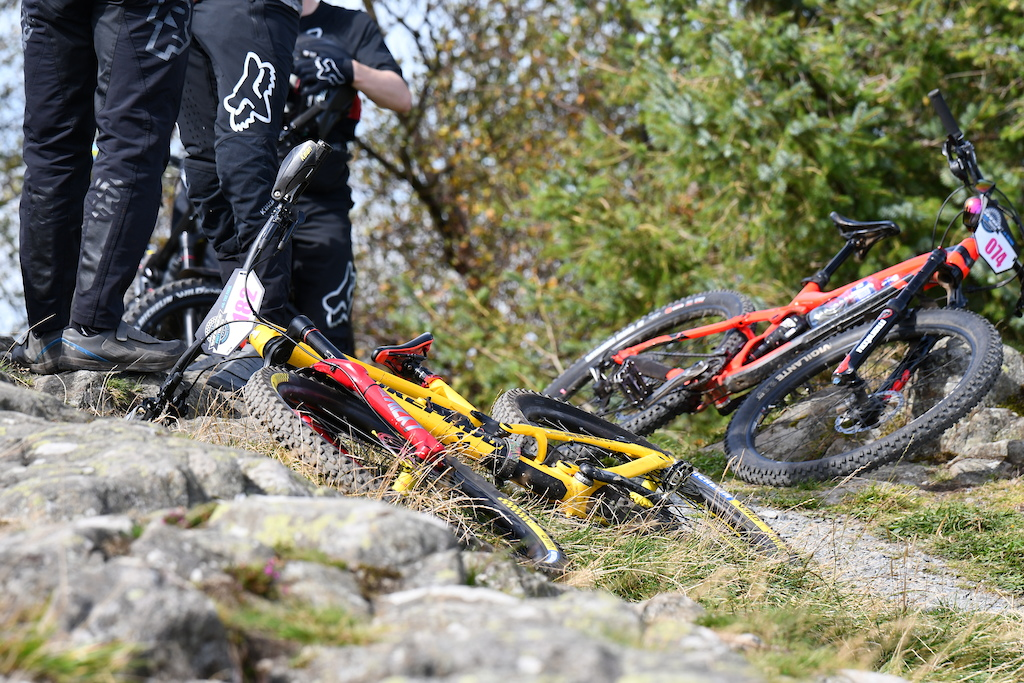 Kelan Grant Nukeproff bike next week will be far from Ireland racing the last stop of the EWS in Zermatt