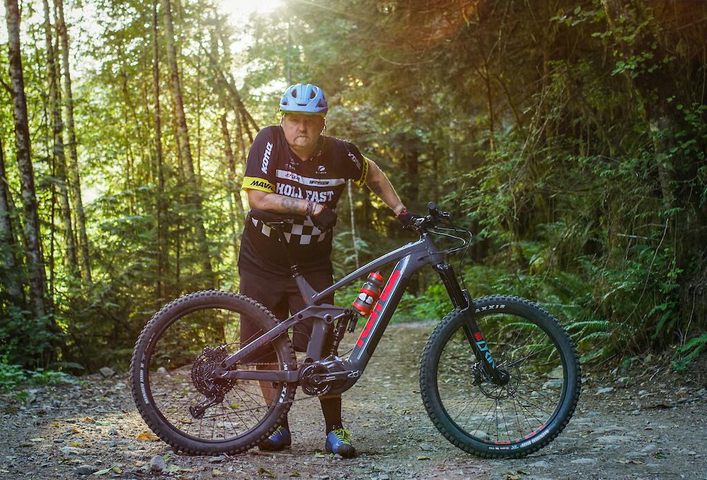 Jim Brown rides the Kona Remote 160