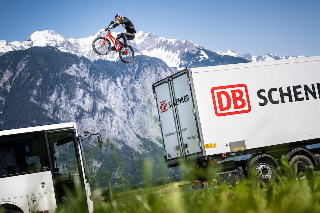 Fabio Wibmer performs during the Shoot of Wibmers Law in Innsbruck, Austria on June 4, 2019 // Philip Platzer/Red Bull Content Pool // AP-21KD4ACQN1W11 // Usage for editorial use only //