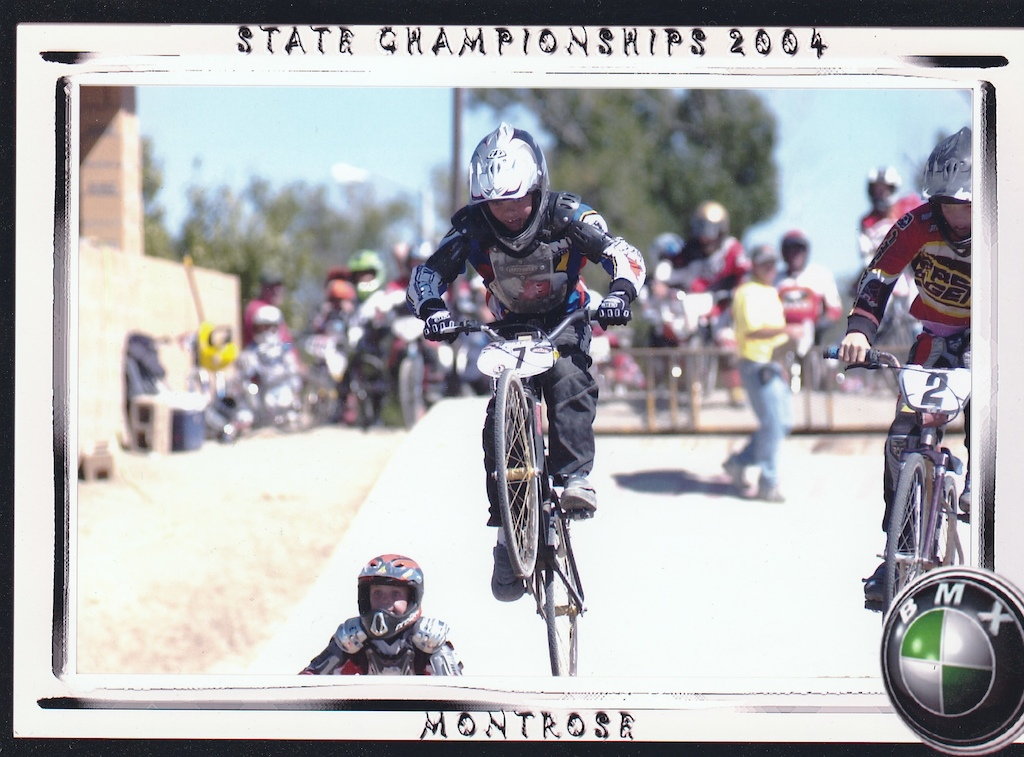 Young Cody Kelley racing Montrose State Championships - 2004