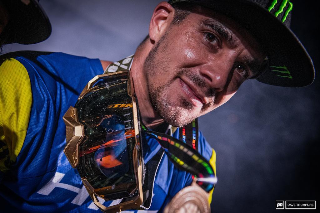 Enduro World Series Champ three years in a row Sam Hill