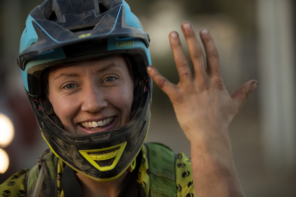VALLE HERMOSO CHILE - 22 February 2019 Laura Battista of Juliana Bicycles during the fourth day of the 2019 Andes Pacifico. Photo by Gary Perkin