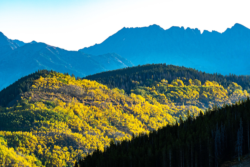The Gore Range was putting on a magnificent show throughout the whole event.